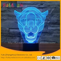 FS-3221 3d illusion lion shape night light for home