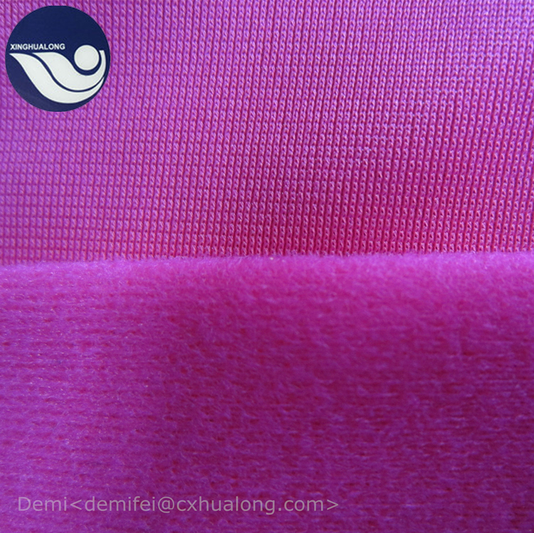 100% polyester alova tricot brush brushed fabric for chair cover / sportswear