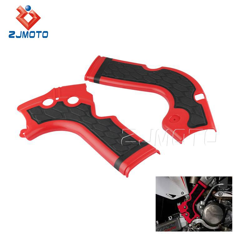 New Motocycle X-Grip Red Plastic Frame Guard For Honda CRF 250 450
