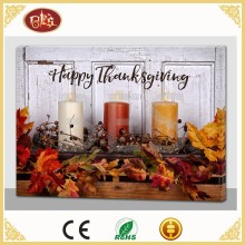 Cheaper Canvas Thanksgiving LED Wall Decoration Picture For Kitchen