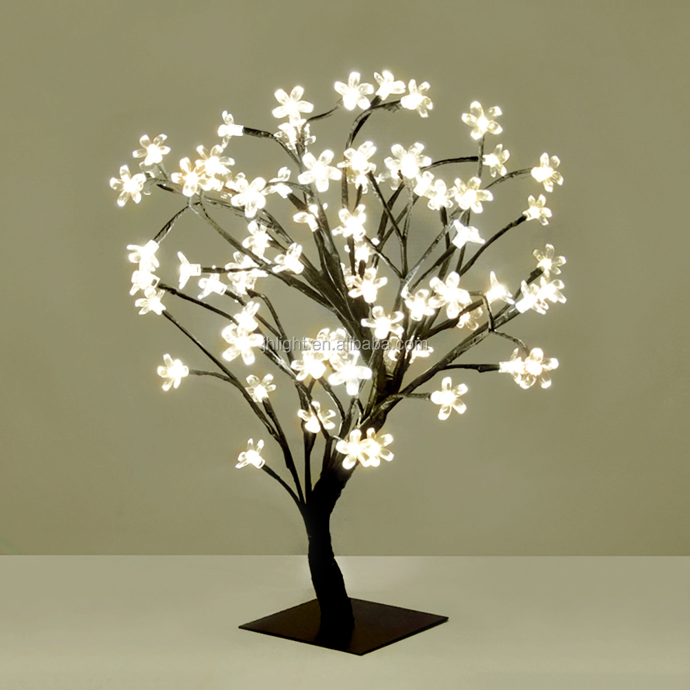 48l Warm White Christmas Led Tree Lights With Cherry Blossom Flower