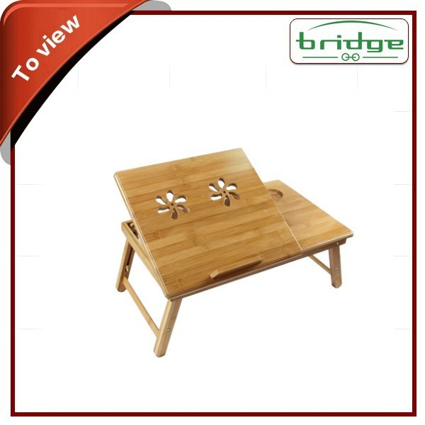 fold natural bamboo laptop table