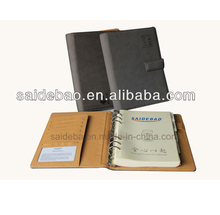 6-ring pu leather notebook/organizers