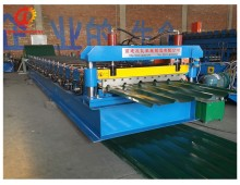 No Hydraulic Cutting part Manual roof tile roll forming machine