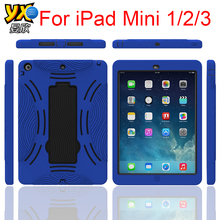 2015 product shockproof dual layers pc+tpu Hybrid belt clip table case for Apple ipad mini 1/2/3