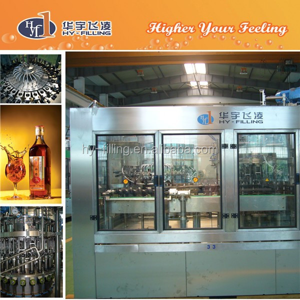 High Quality Apple Vinegar Glass Bottle Hot Filling Machine