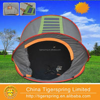 Pop up solar tent with fan and light