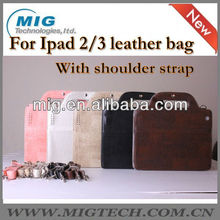 Fashional hand bag for ipad case with strap, for ipad 3 case