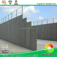EPS fiber cement sandwich board temporary decorative fence panels