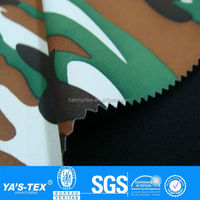 2 layers camo printed waterproof softshell fabric for sportswear