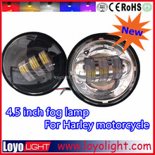 Car Accessaries 4.5 Inch Orginal Osram Chip 50000h Lifespan Halo LED High/Low Beam 1440LM Fog Lights for Harley with EMC