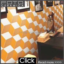 Foshan manufacturers handmade cement spain style orange wall decoration tile