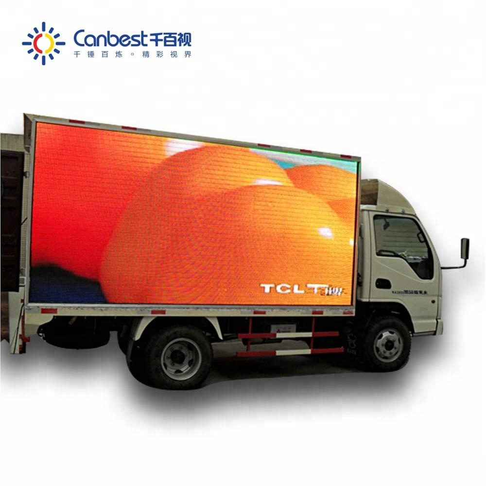 7500nits high refresh rate large portable outdoor <strong>P10</strong> <strong>advertising</strong> mobile trailer led <strong>sign</strong>