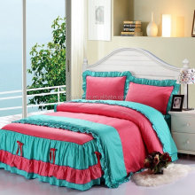 lovely 4pcs lace bedding sets cubrecama bed sheet duvet cover sets