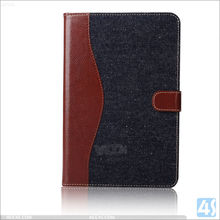 High quality in stock wholesale best selling flip wallet leather case for ipad mini 4