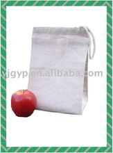 HOT SALE Fashionable promotional plain cotton drawstring bag
