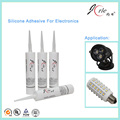 Anti-staining silicone adhesive for LED