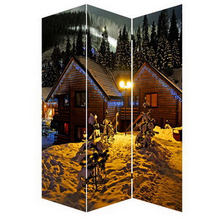 Cheap canvas 3 panels led screen room divider for living room