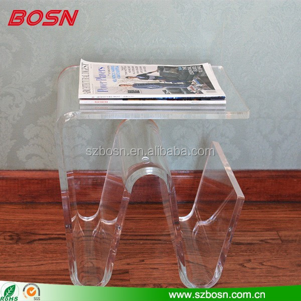 Unique Elegant Acrylic side Table With OEM/ODM acceptable