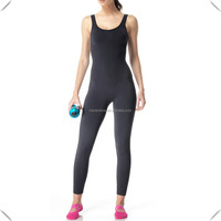 Women's full-body sublimation printed Seamless Yoga Body Suit made with Moisture-wicking Antimicrobial performance fabric