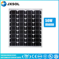 Full certificates approved and cheap mono 50w solar panel