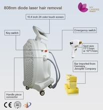 ipad feel touch screen hair removal 808nm diode laser machines, non cutting rust