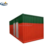China 20ft prefab home container House for Labor Camp with Kitchen / Toilet