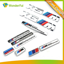 X6 M Power Chrome 3D Emblem Badge Sticker Decal ABS Plastic Chrome Car Logo For Trunk Decoration