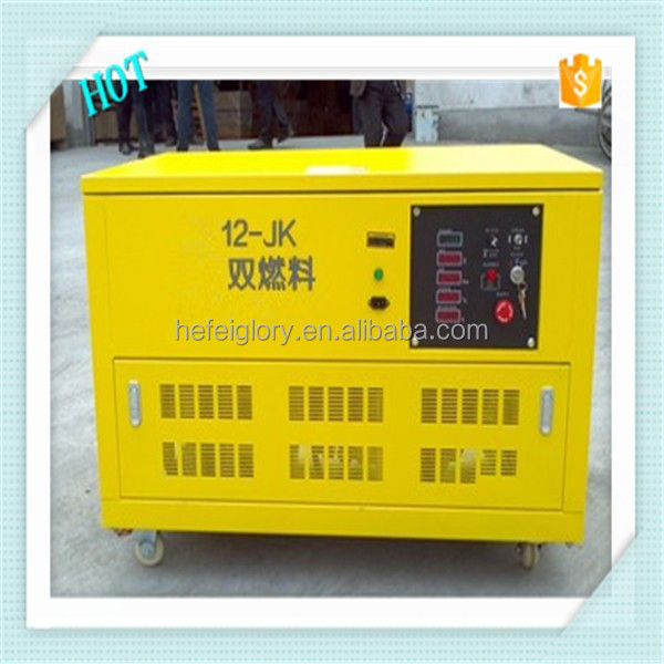 12-JK 12kw LPG natural gas gasoline generator