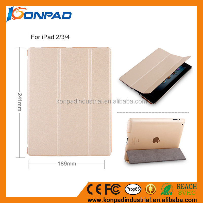 Book style PU leather mobile phone case for ipad air 2 slim light case for iPad air 2