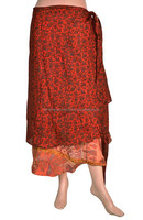 Indian Wrap Skirts Wholesale Reversible Two Layer Silk Wrap Skirt Online