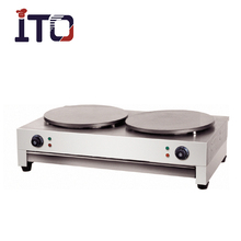 SH-CM2 Table Counter Top Industrial Stainless Steel Electric Crepe Maker Machine for Sale