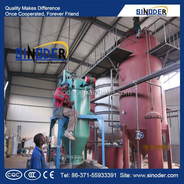 SINODER Brand Edible oil refinery and dewax machine of 10-1000TPD sunflower seed oil making machine
