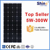 China top ten hot selling products 150w 250w 300w monocrystalline solar panels for solar power system home