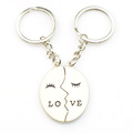 Cheaper custom love key chain with engraved