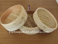 natural bamboo steamer,kitchen steamer basket for steamed bread and vegetables