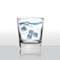 Plastic promotion ice cubes with logo inside