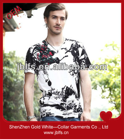 2013 new design men's printing tee shirt