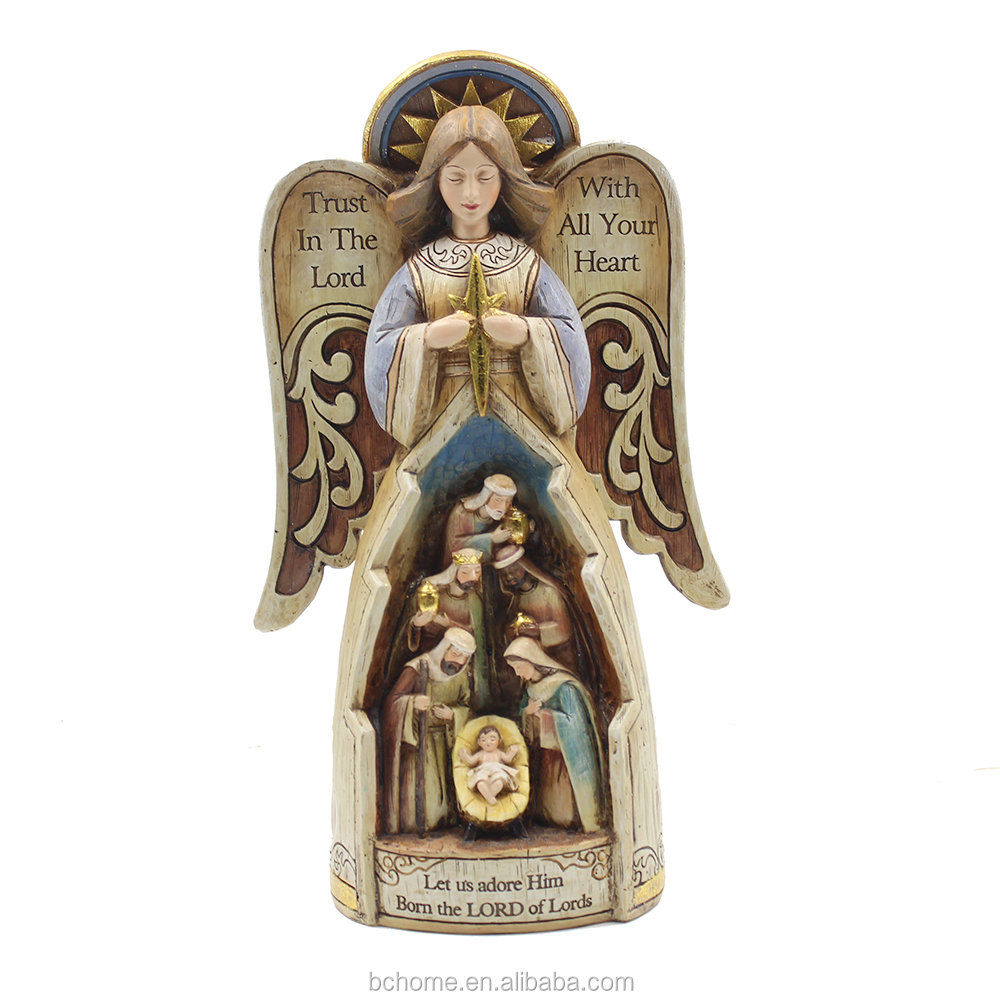 Resin Religious Statue of Nativity of Jesus For Christmas Decoration