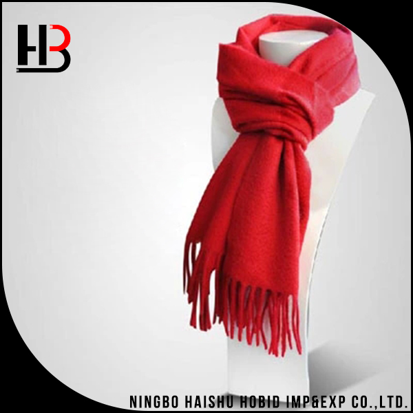 Solid color winter 100% cashmere scarf men
