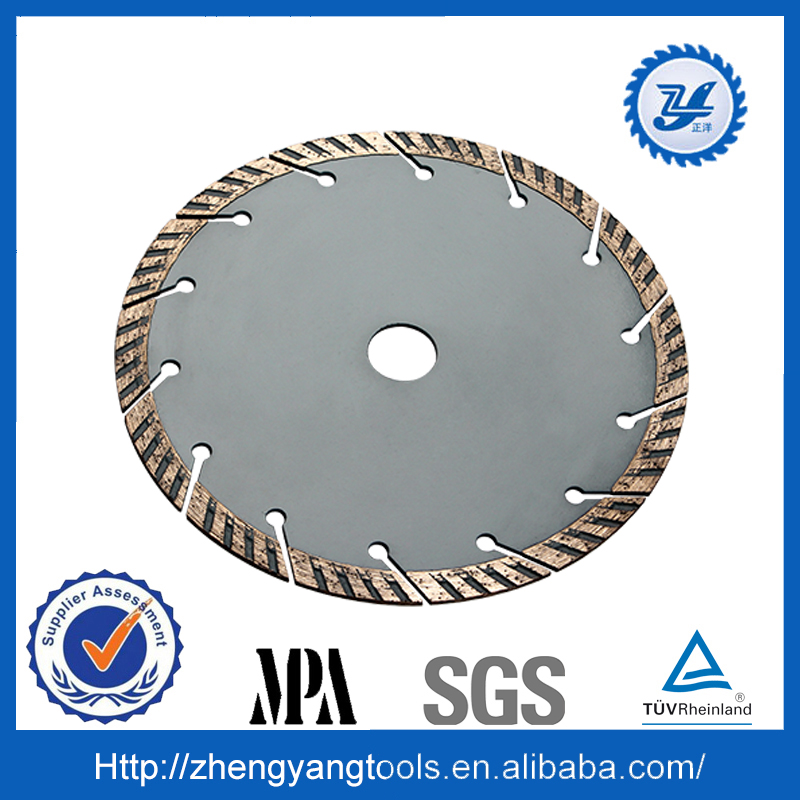 sintered segmented turbo diamond saw blade for cutting ceramic and clay pipe