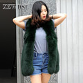 CX-G-B-15B Natural Fox Fur Coat Jacket Women Real Fur Vest