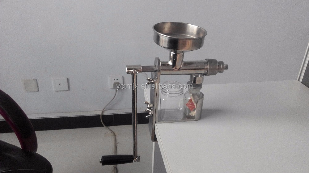 High quality 304 stanless steel widely use in house small cold press oil machine,manual peanut oil press