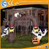 Inflatable halloween arches haunted house decoration and witch & dead tree yard air ghost arch