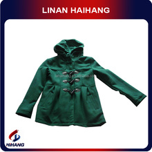 Hooded green baby patch clothing