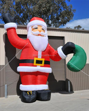 Promotion christmas santa claus giant inflatable for sale