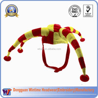 Red and Yellow Festival Fun Clown Hat with Bobble/Custom Your Own Party Hat
