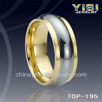 men refined Unique Men gold Couple Tungsten Ring