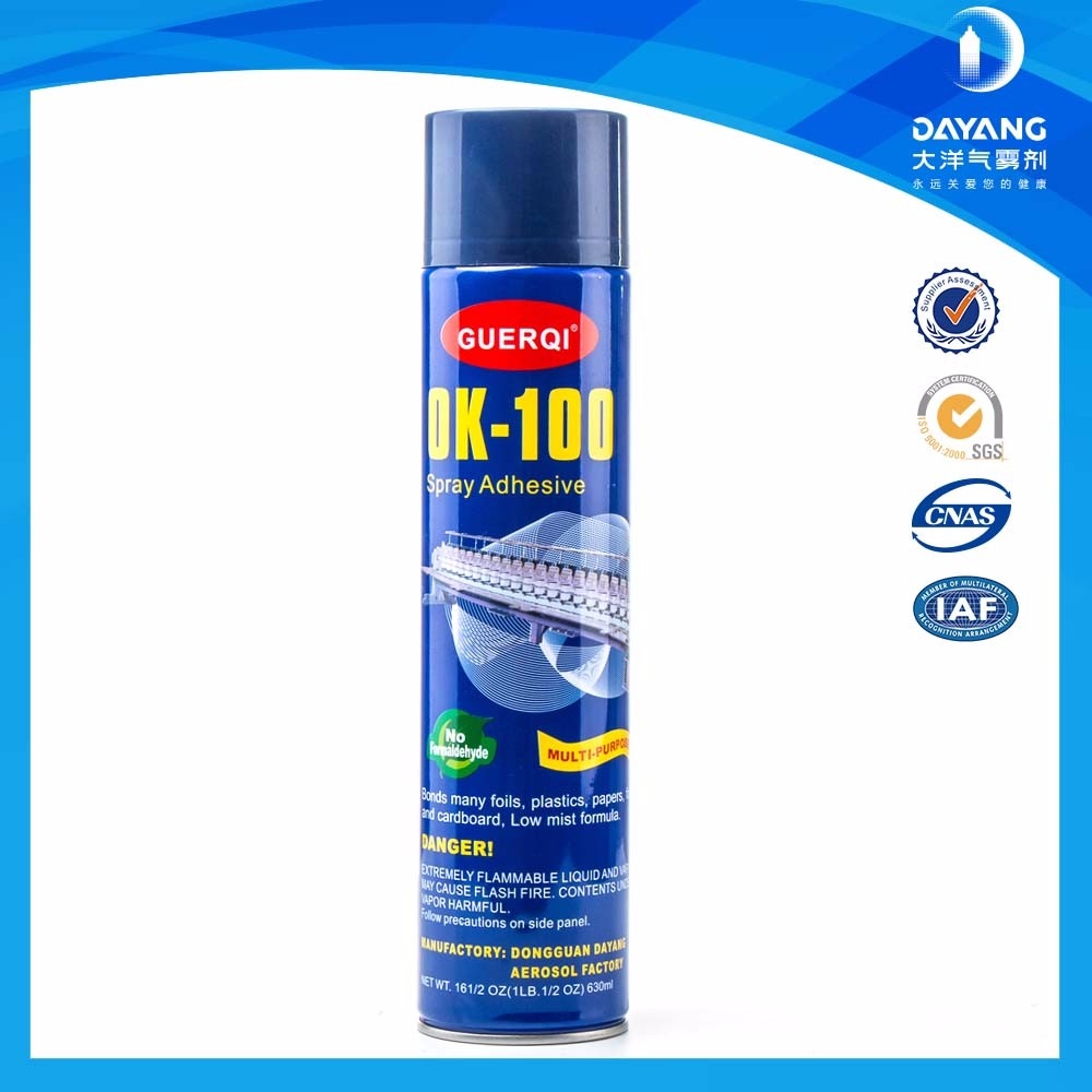 Solvent Based Polyurethane Fabric Embroidery Spray Adhesive