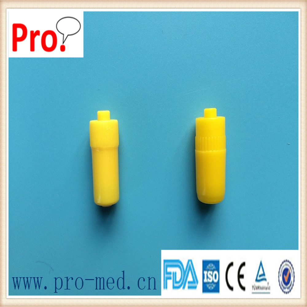 Yellow transparent medical use disposable Heparin Cap/Injection Stopper
